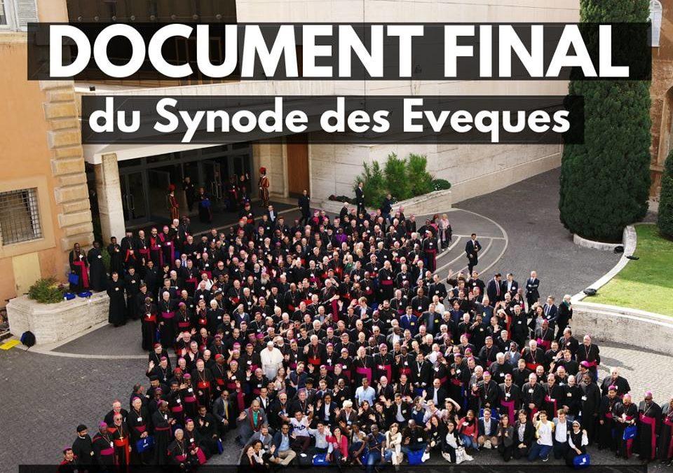 Document final du synode en français